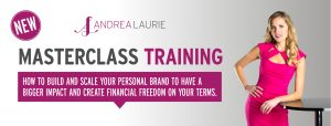 Personal brand training with Andrea